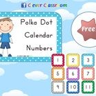 FREE Polka Dot Calendar Numbers - PDF File3 page, downloadable file designed by Clever Classroom.Involve your students in your interactive cale...