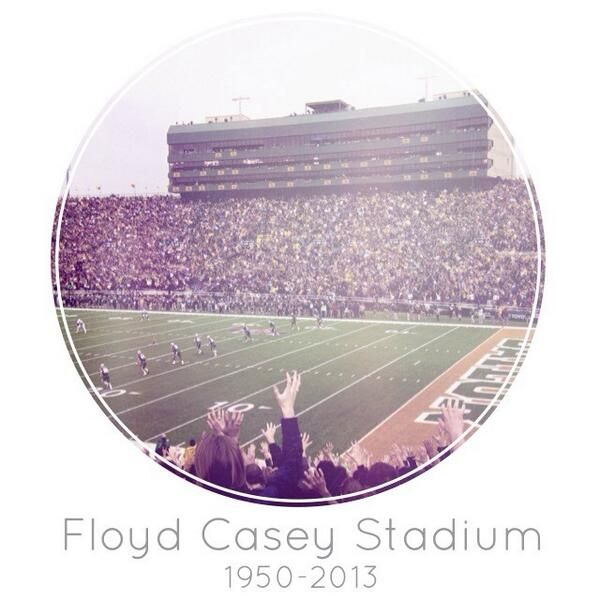 #Baylor University's Floyd Casey Stadium: 1950-2013 #CaseClosed #Big12Champs