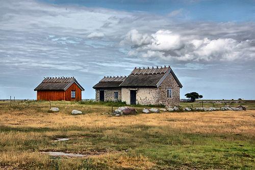 Cottages at the island Öland in Sweden