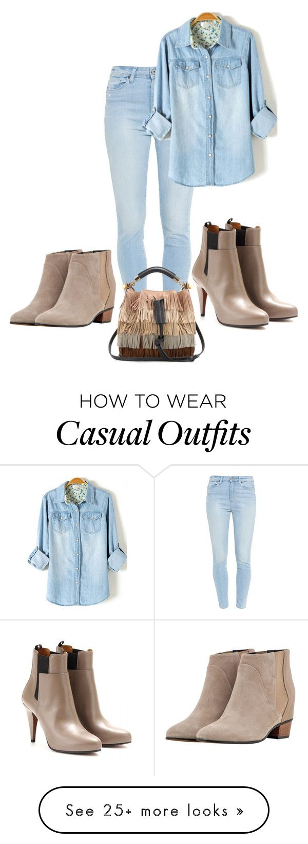 """""""Either or both casual !"""" by le-lola on Polyvore featuring Paige Denim, Augusta, Balenciaga and Chloé"""