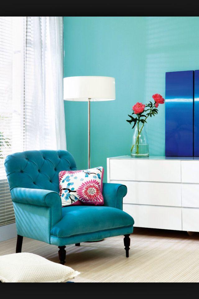 Poltrona azul turquesa para a sala sala pinterest for Sillas color turquesa