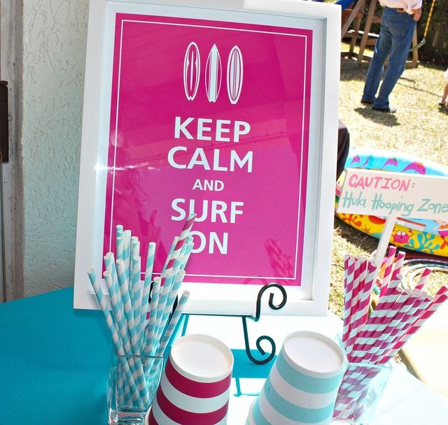 Surfer Girl and Backyard Beach Bash Birthday Party Ideas | Photo 6 of 35 | Catch My Party