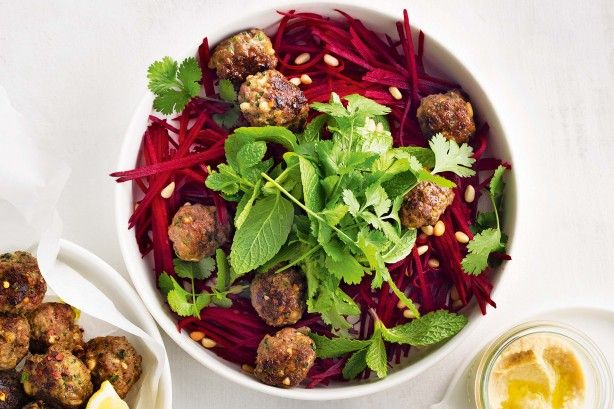 GF kofte and beetroot salad Make the family happy with these weeknight dinners made completely from scratch.