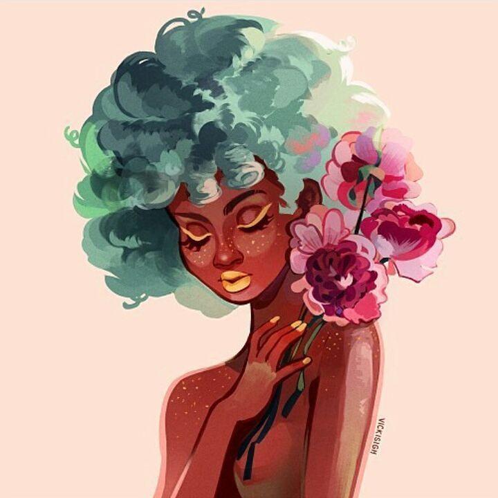 Wow! Love the colors! By @vickisigh #black #blackgirl #blacklivesmatter…