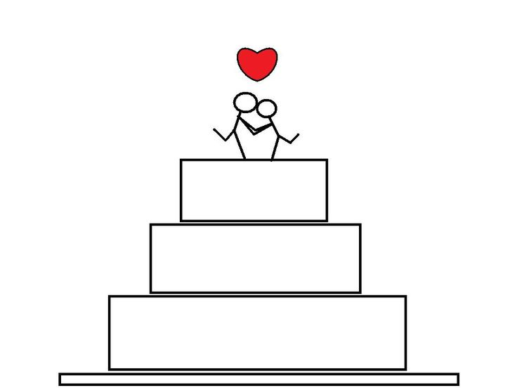 Line Art Wedding : Wedding cake drawing wallpapers heavens