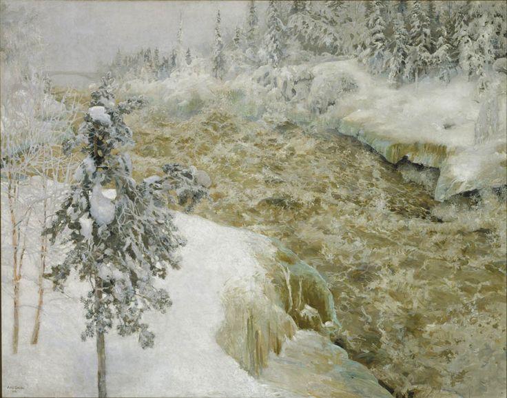 Akseli Gallen-Kallela - Imatra in Winter 1893