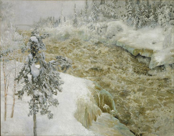 Akseli Gallen-Kallela - Imatra in Winter 1893