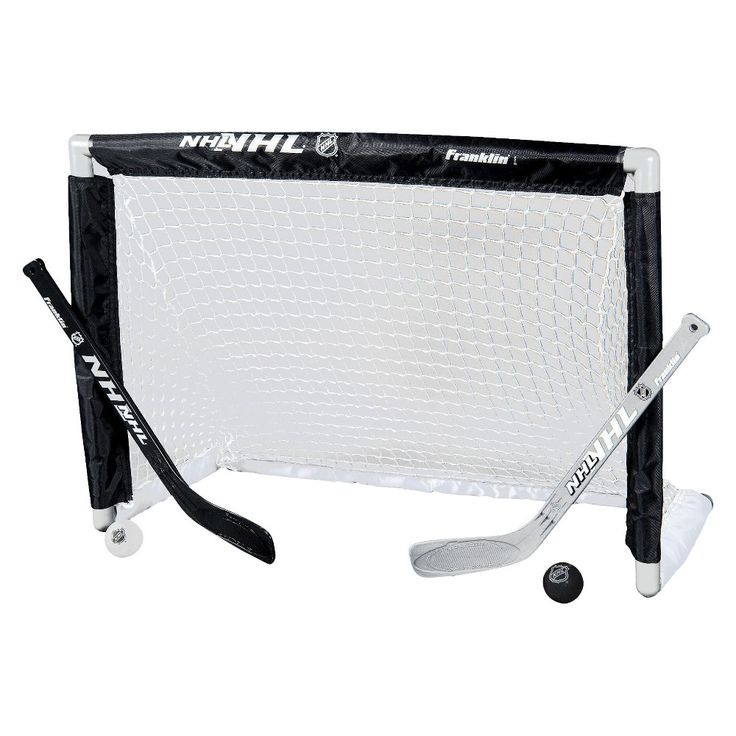Franklin NHL Mini Hockey Goal Set, Black/Silver