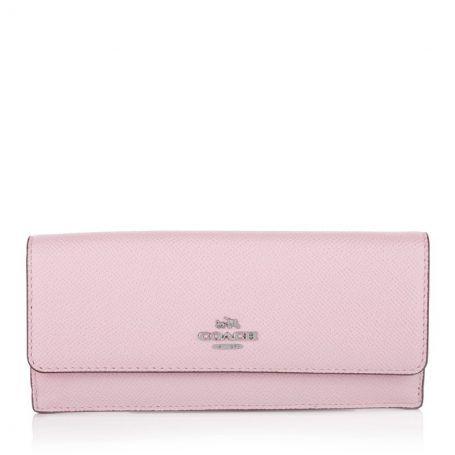 Coach Kleinleder – Trifold Wallet Sv/petal – in rosa…