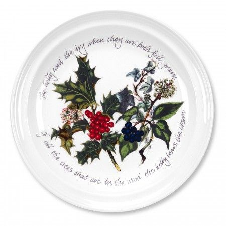 Portmeirion The Holly and The Ivy Side Plate 8 inch Set of 6 - The Holly & The Ivy - Portmeirion UK