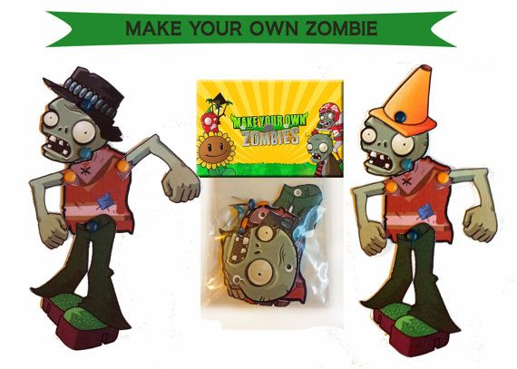 Make Your Own Zombie -PLANTS VS ZOMBIES Party