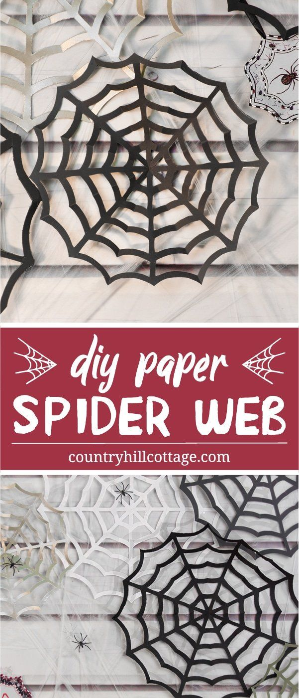 Paper Spider Web Halloween Paper Crafts Spider Web Decoration