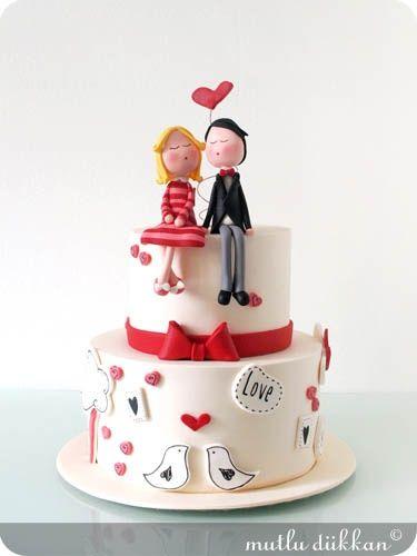 Torta de boda muy tierna -  Оригинальные и необычные современные свадебные торты | Модная свадьба