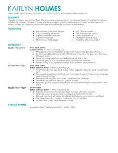 sumptuous hotel front desk resume sample hotel front desk clerk ...