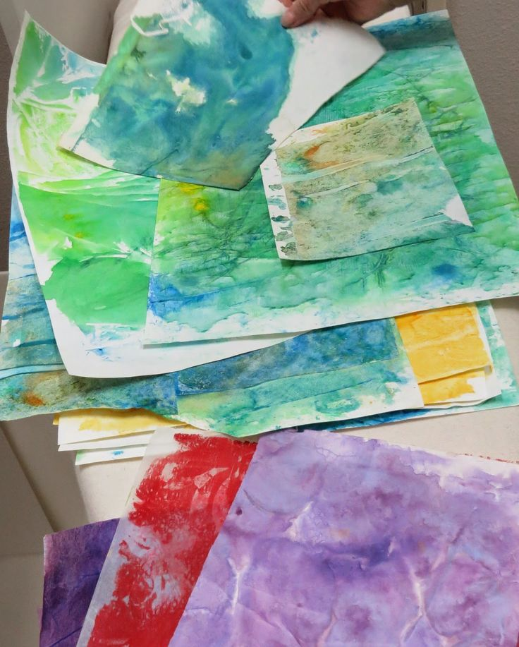 Rainbow Paper Collage Art Project