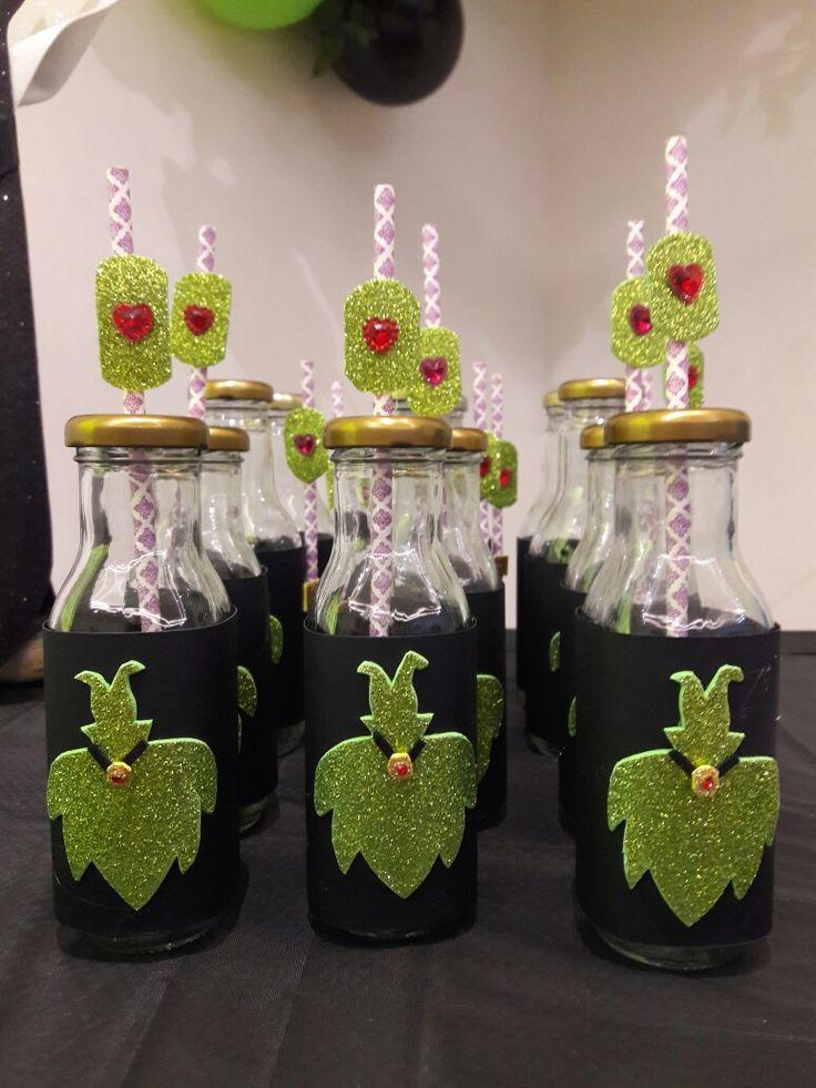 Botellas decoradas descendientes