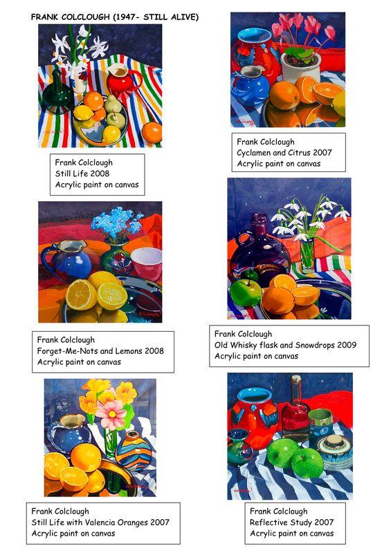 Frank Colclough   Research Process   http://www.scottishartpaintings.co.uk/artist-frank-colclough.asp