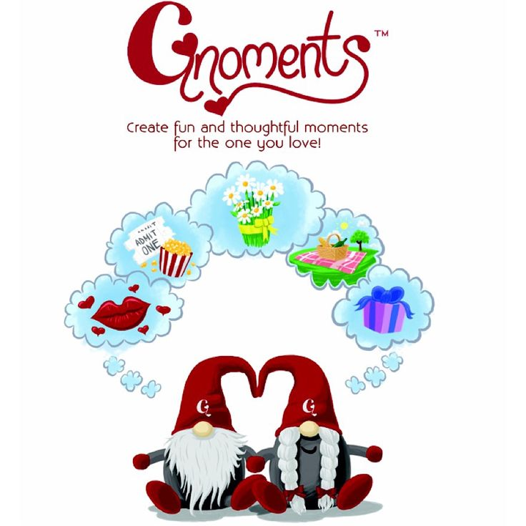 These little gnomes are here to help you create fun and thoughtful moments for the one you love!!  Their presence will encourage you to dream up thoughtful gestures  and fun adventures to surprise and enamor your loved one.     #Gnoments #love #romance: