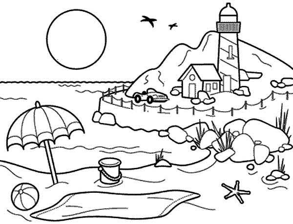 Inspiring Summer Coloring Pages Ideas To For Everyone Beach Coloring Pages Free Kids Coloring Pages Summer Coloring Pages