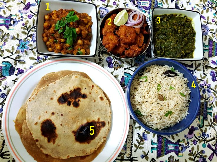 A Hearty Dinner from the Punjabi Cuisine