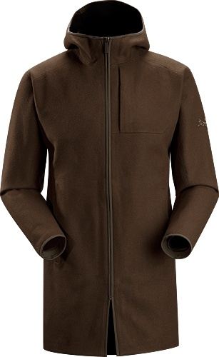 Diplomat Jacket Men's Classic thigh length tailored wool coat with technical styling and a contemporary design