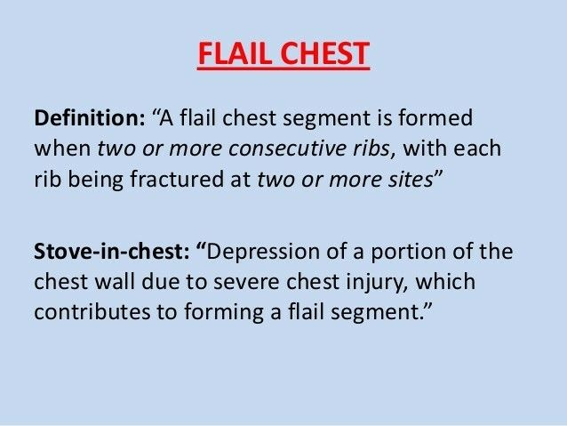 Stove in Chest in Flail chest ...