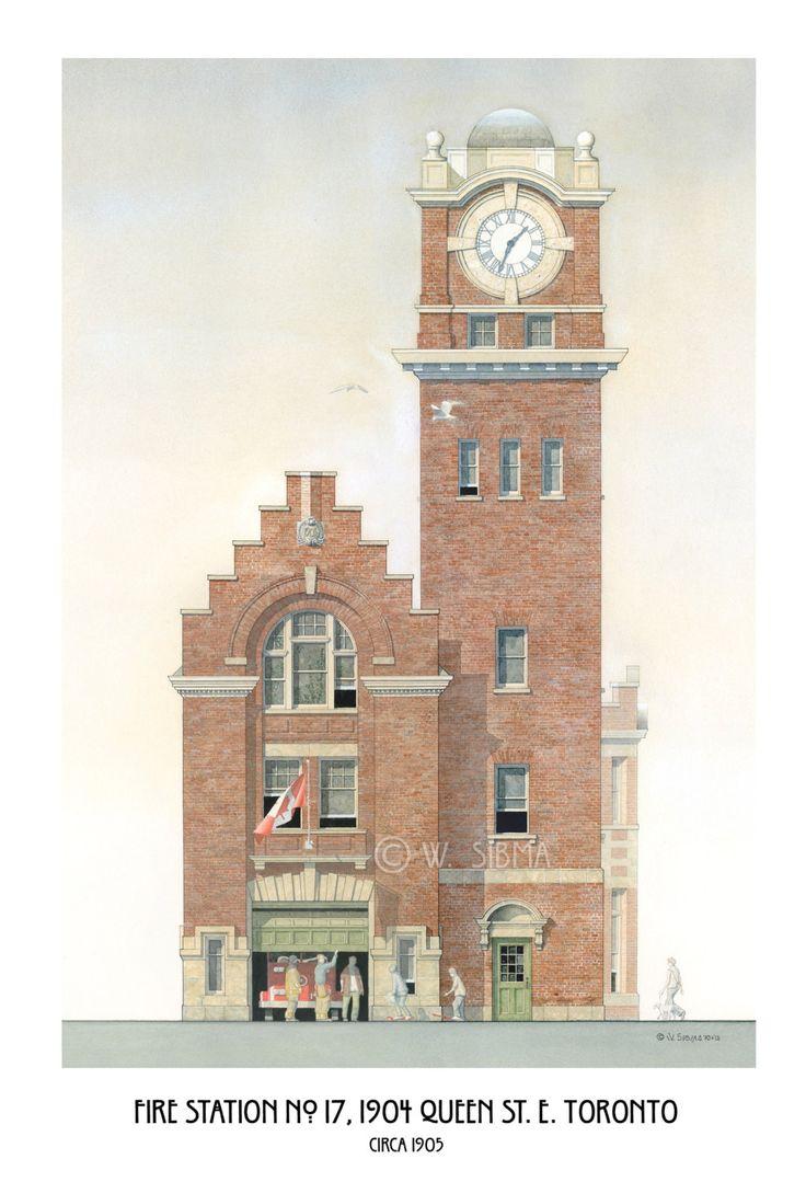 Fire Station Art Toronto Hall No. 17 The Beach. by WaltsTSquare