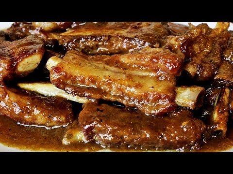Costillas de cerdo en salsa - Recetas y Tapas