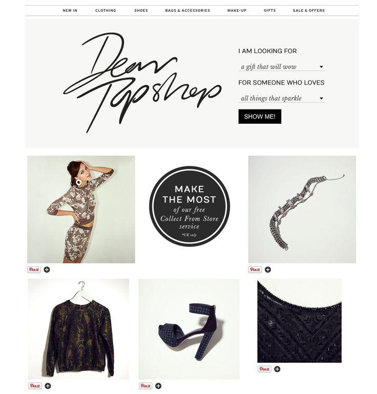 dear topshop / gift finder / gift guide