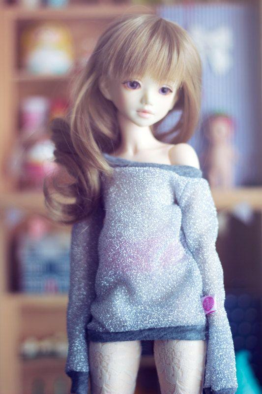 Silver Shine sweater for MSD size bjd dolls Unoa by sugardollshop, $18.00