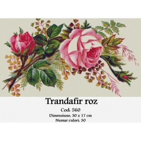 Model goblen Trandafir roz http://set-goblen.ro/flori/3538-trandafir-roz.html
