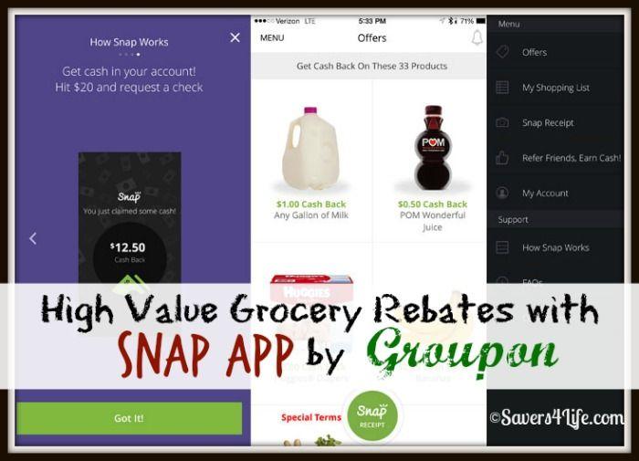 High Value Grocery Rebates with the Snap App by Groupon. #rebatesapp #rebates #theultimateparty - Week 21