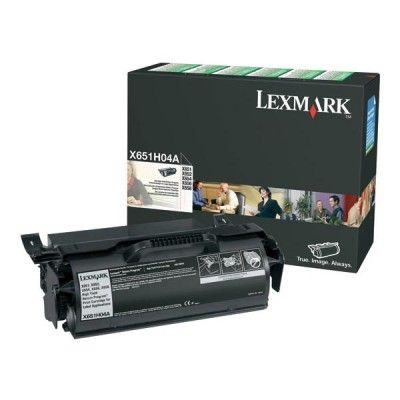 Lexmark X651H04A Black Toner Cartridge