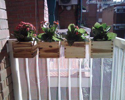 Pequeño jardín colgante. Para terrazas y balcones.