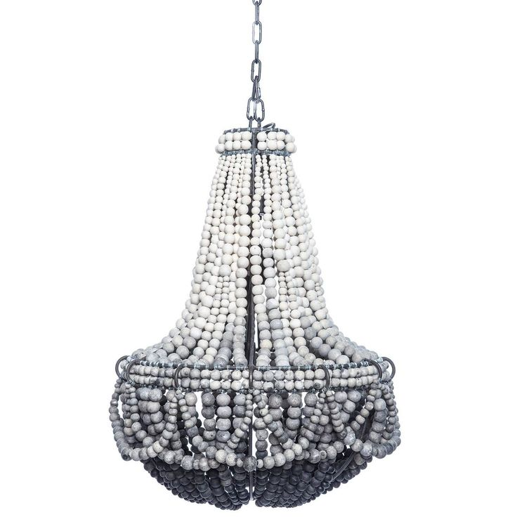 Ombre black clay beaded chandelier foyer lightingkitchen