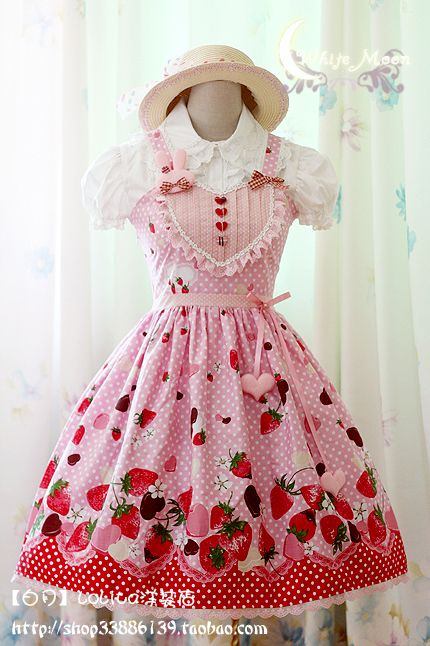 White Moon Strawberry Chocolate Sweet Heart JSK (Ltd Ed)