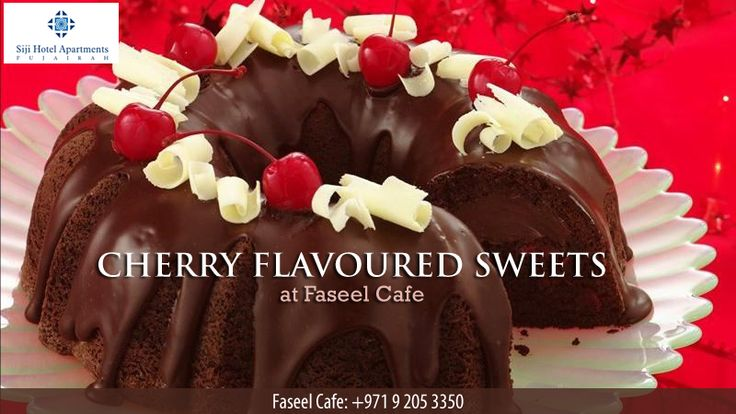 Give your taste buds the sweet twist with our exotic cherry flavoured sweets at Faseel Cafe & enhance your happiness quotient this weekend in Siji Hotel Apartments, Fujairah.