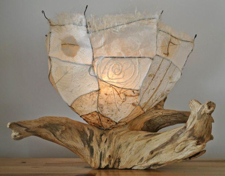 Lamparas con madera reciclada dise o ecoresponsable con - Lamparas de madera ...