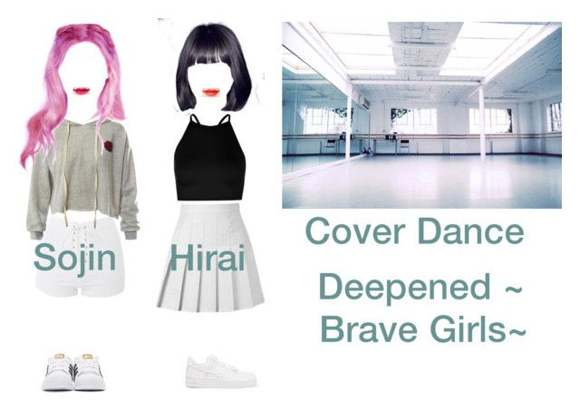 """""""Cover Dance"""" by official-icekiss ❤ liked on Polyvore featuring Boohoo, Topshop, NIKE, Sans Souci and adidas Originals"""