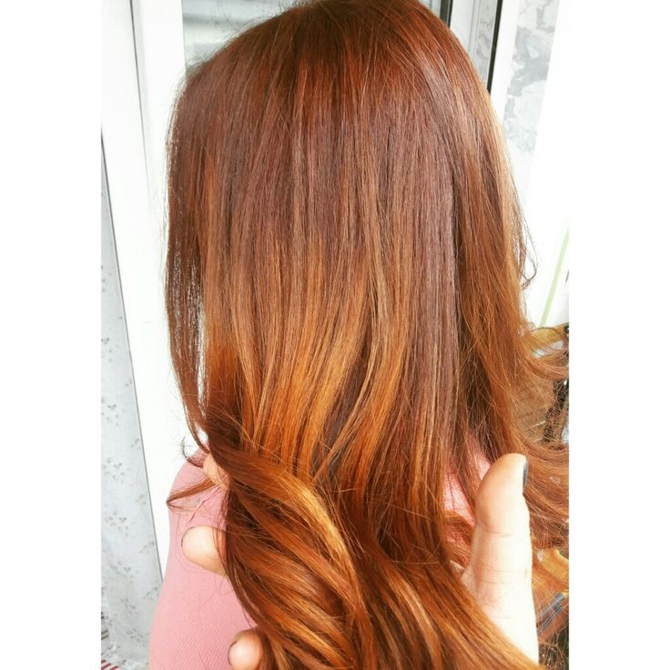 Cooper!! ! Balayage in red  #redhair #ginger #balayage #onfire