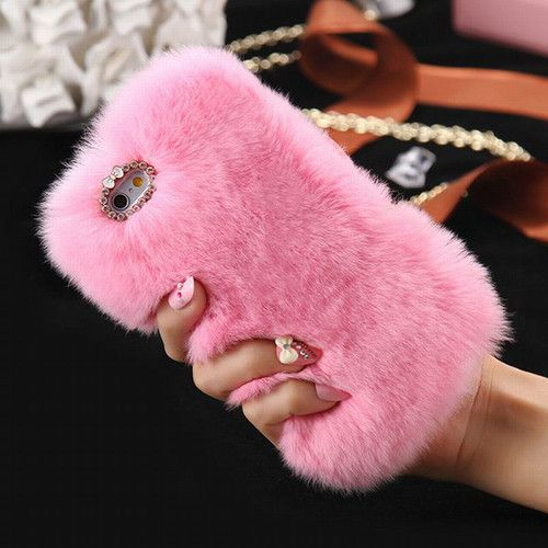 Be Cool Not Cold, Luxury Phone Case. Colorful Fur. 7 Colors to Chose From