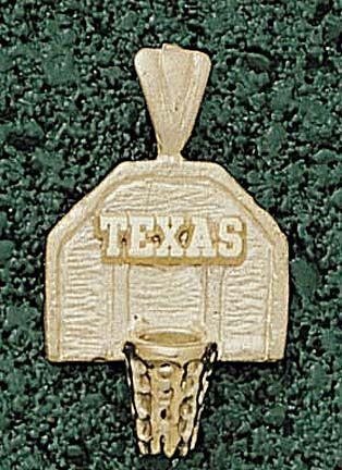 """""""Texas Longhorns """"""""Texas Basketball Backboard"""""""" Pendant - 14KT Gold Jewelry"""": You often see… #SportingGoods #SportsJerseys #SportsEquipment"""