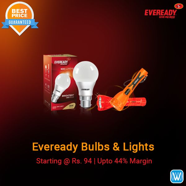 Retailers, buy Eveready bulbs and lights in bulk only on #Wydr Wholesale E-Commerce. SuperFast Delivery! Order now!