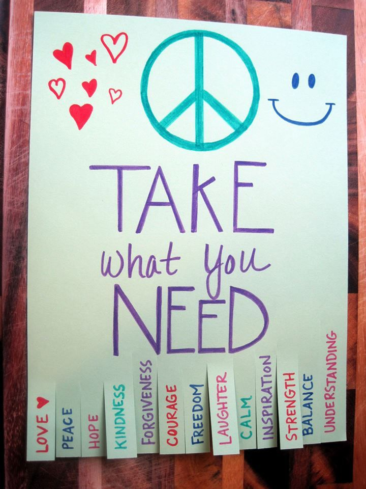 take what you need tear off poster  DONE  Tear Off