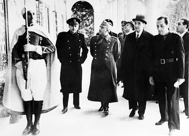 Picture dated 1940 of Portugese head of state Antonio de Oliveira Salazar with Spanish dictator Francisco Franco / AFP /
