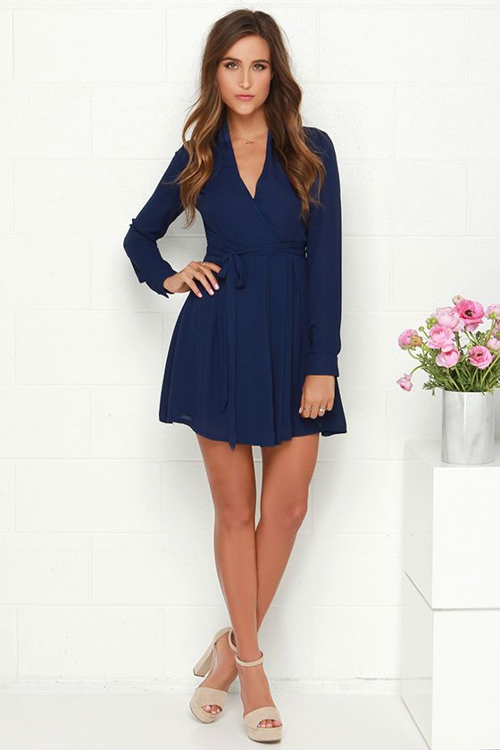 Best 20  Blue long sleeve dress ideas on Pinterest | Promotion ...