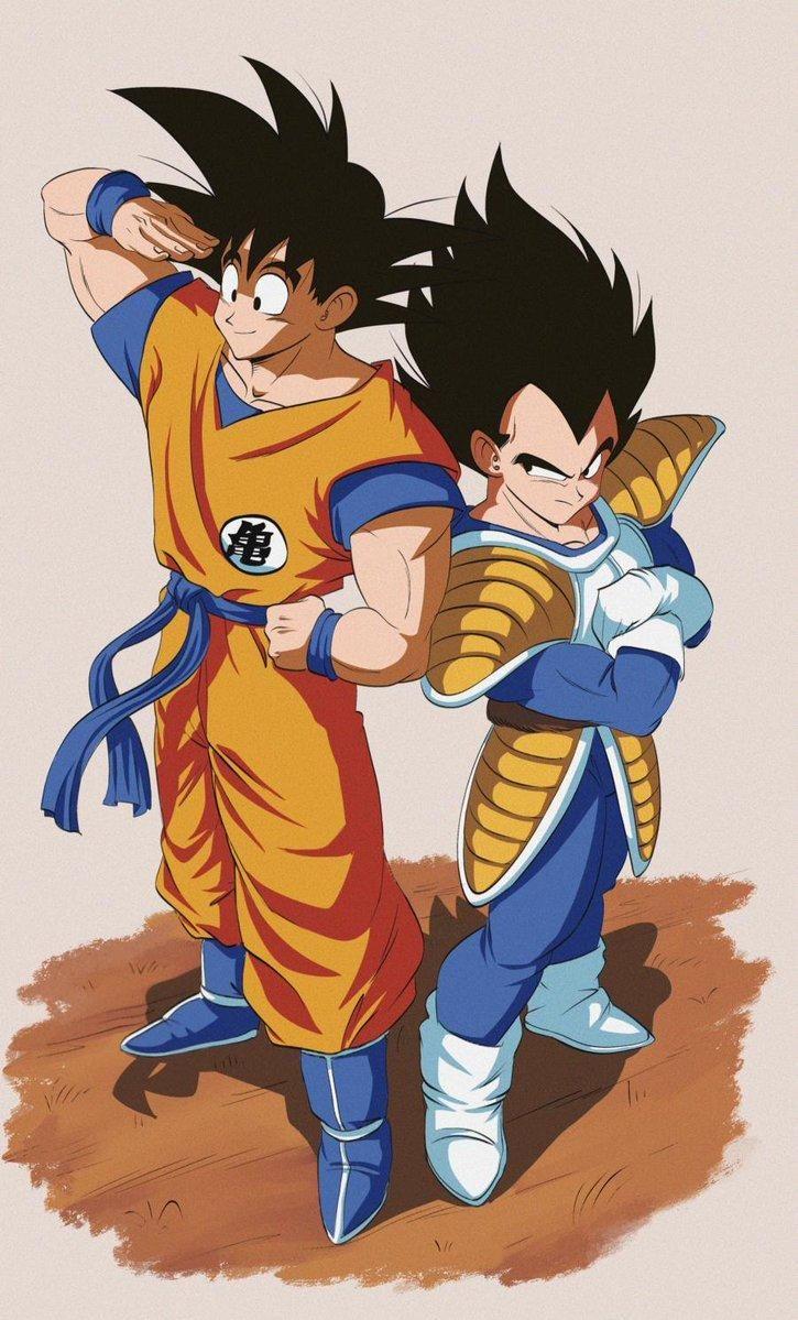 Saiyan Saga Goku And Vegeta Dragon Ball Anime Dragon Ball Super Dragon Ball Super Manga Dragon Ball Goku
