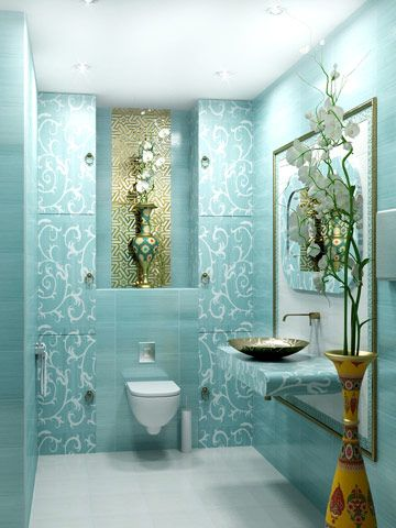 spa, salon, interior, design, turquoise, toilet, ideas