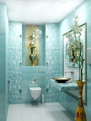spa, salon, interior, design, turquoise, toilet, ideas
