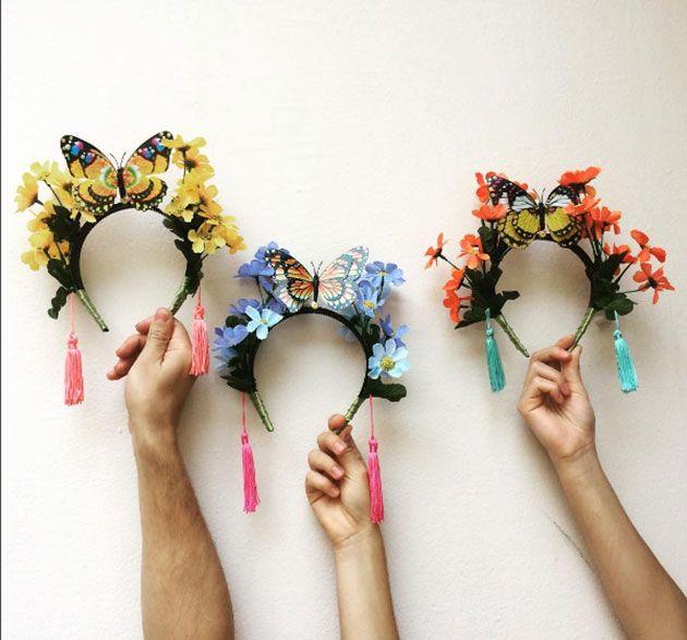 Flores e borboletas na Explícito Objeto (R$ 40 cada)